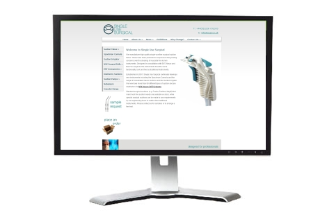 Single Use Surgical web design