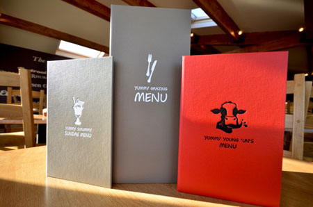 Yummy Yorkshire Ice Cream Parlour Menu Designs