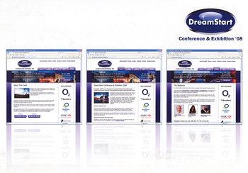 DreamStart Exhibition website design