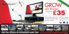 Enterprising Barnsley Exhibition Promotion Materials Design and Print