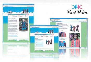 Kozi Kidz website design