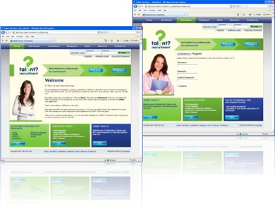 Talent Recruitment Services Website Design and Build